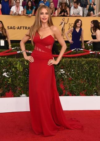красное вечернее платье large 7998