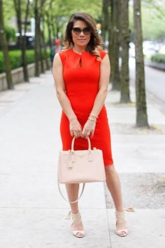 550ed37ef97 Красное платье-футляр от City Goddess