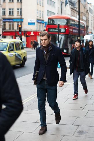 Мужской темно-синий вельветовый пиджак от Our Legacy