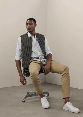 Мужские белые кожаные низкие кеды от Common Projects