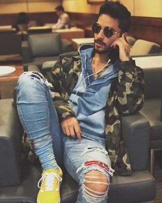 Мужские желтые низкие кеды от adidas