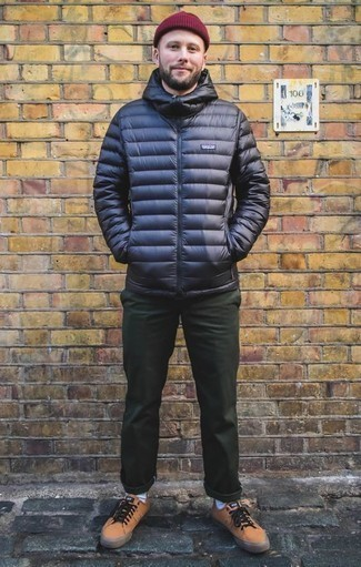 Мужская темно-синяя куртка-пуховик от Nike