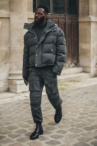 Мужская темно-серая куртка-пуховик от Trespass