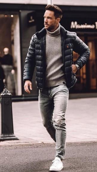 Мужская черная куртка-пуховик от Kangol