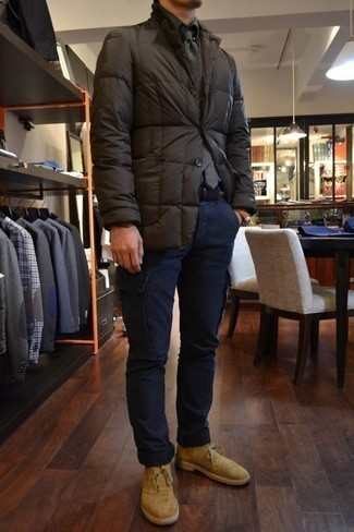 Мужская темно-серая куртка-пуховик от E-Bound