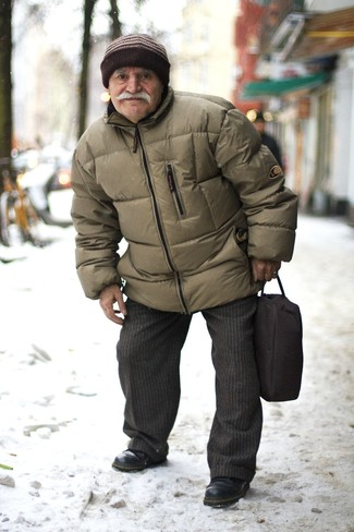 Мужская оливковая куртка-пуховик от Helly Hansen