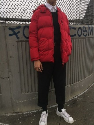 Мужская красная куртка-пуховик от Trespass