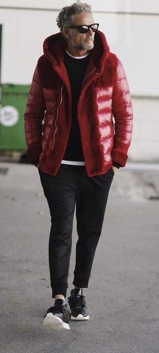 Мужская красная куртка-пуховик от Topman