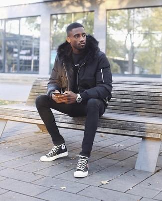 Мужская черная куртка-пуховик от Puma