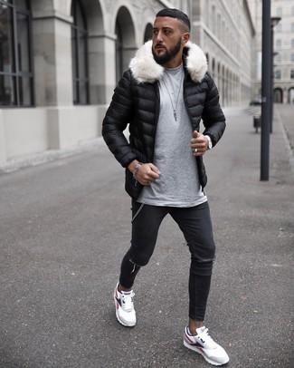 Мужская черная куртка-пуховик от Grishko