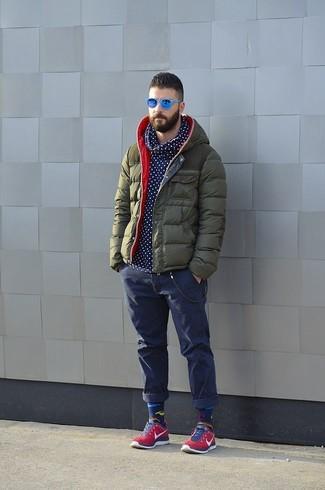 Мужские темно-синие джинсы от Losan