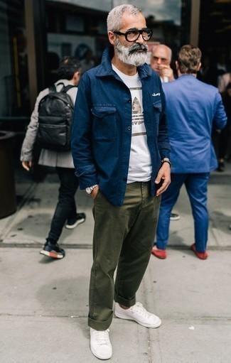 Мужская белая футболка с круглым вырезом с принтом от Atributika & Club™