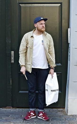 Мужская белая футболка с круглым вырезом с принтом от Duck and Cover