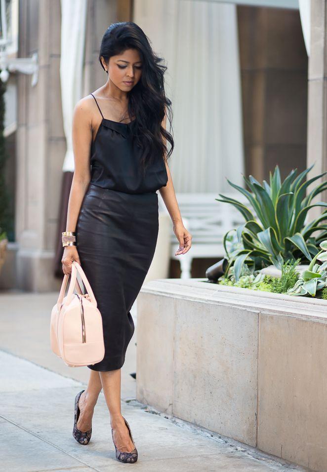 Как носить черную шелковую