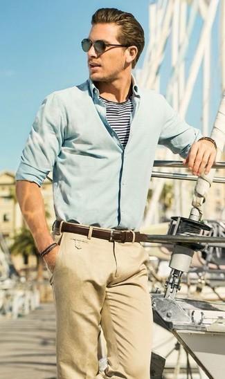 Светло-коричневые брюки чинос от Selected Homme