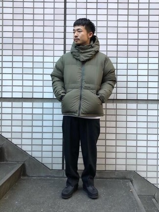 Мужская оливковая куртка-пуховик от Trespass
