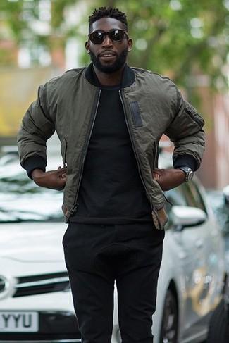 Мужские черные спортивные штаны от Asics