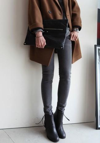 Черный кожаный клатч от Dorothy Perkins