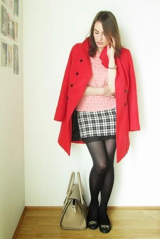 С чем носить юбку в шотландскую клетку