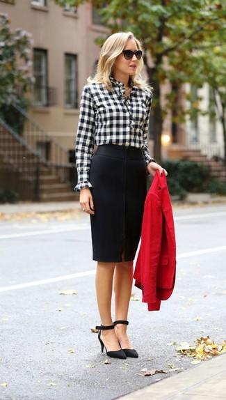 Блузки с длинным рукавом под юбку