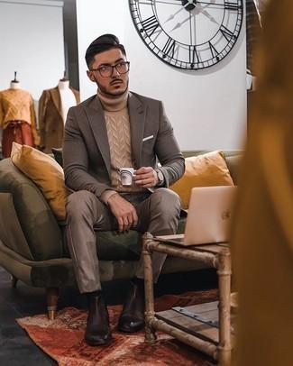 С чем носить коричневые брюки чинос: Коричневый пиджак в клетку и коричневые брюки чинос — хороший мужской ансамбль для ужина в ресторане. И почему бы не добавить в повседневный образ немного консерватизма с помощью темно-коричневых кожаных ботинок челси?