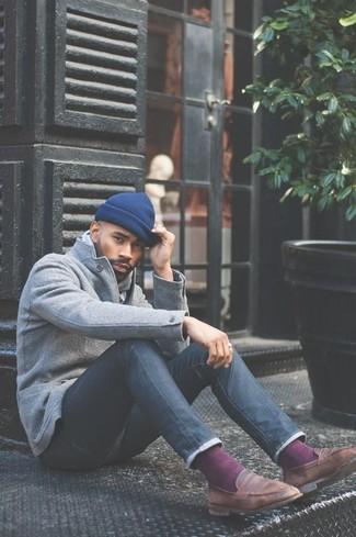 Мужская синяя шапка от Ferz