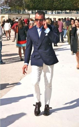 пиджак классическая рубашка брюки чинос дезерты нагрудный платок large 267