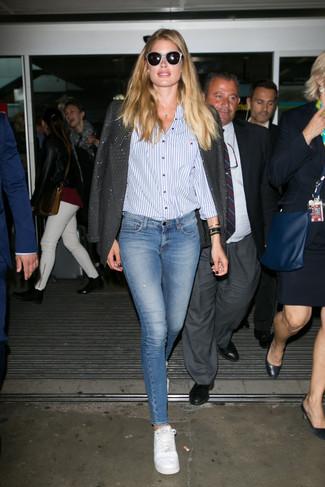 пиджак классическая рубашка джинсы скинни large 22657