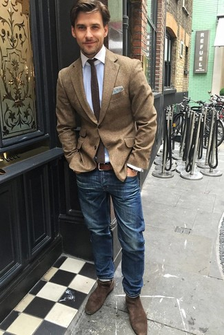 Мужские синие джинсы от Strellson