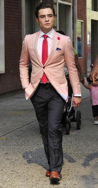пиджак классическая рубашка классические брюки броги галстук нагрудный платок large 993