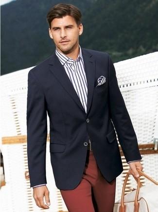 пиджак классическая рубашка классические брюки дорожная сумка нагрудный платок large 272
