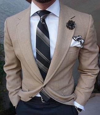 Мужская белая классическая рубашка от Massimo Alba