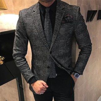 Мужская черная классическая рубашка от La Fileria For D'aniello