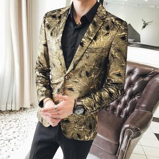 Желтый браслет из бисера: с чем носить и как сочетать мужчине: Если ты ценишь комфорт и практичность, золотой пиджак с принтом и желтый браслет из бисера — отличный выбор для стильного мужского ансамбля на каждый день.