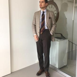 С чем носить светло-коричневые носки мужчине: Светло-коричневый пиджак в шотландскую клетку и светло-коричневые носки — стильный выбор мужчин, которые никогда не сидят на месте. Хочешь сделать лук немного строже? Тогда в качестве дополнения к этому луку, выбери темно-коричневые кожаные оксфорды.