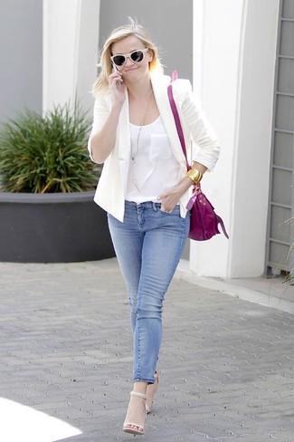 пиджак майка джинсы скинни large 1818