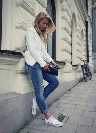 Черный кожаный клатч от Olga Berg