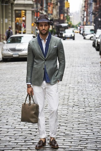 Мужской серый пиджак от s.Oliver