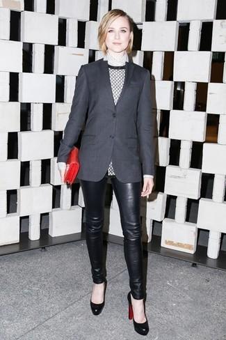 Женский темно-серый пиджак от Yves Saint Laurent Vintage