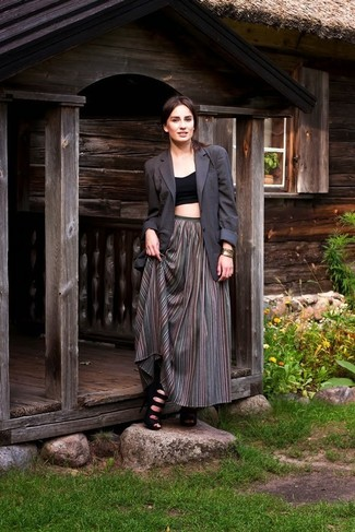 Женский темно-серый пиджак от Dolce & Gabbana