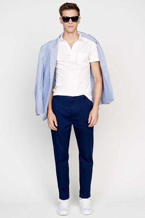 Синие брюки-чиносы