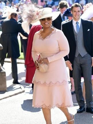 платье футляр босоножки на каблуке клатч large 30148