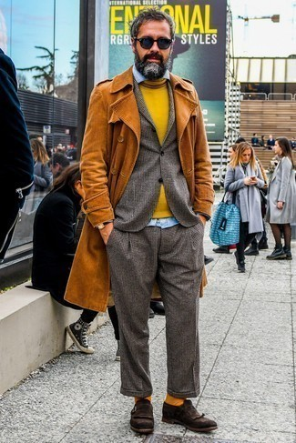 С чем носить табачные носки мужчине: Такое лаконичное и практичное сочетание базовых вещей, как табачный плащ и табачные носки, нравится джентльменам, которые любят проводить дни в постоянном движении. Если ты любишь смешивать в своих ансамблях разные стили, из обуви можешь надеть темно-коричневые замшевые монки.