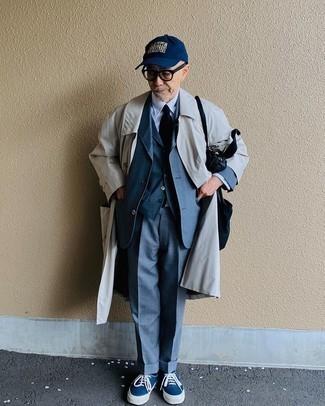 Мужская темно-синяя бейсболка с принтом от Atributika & Club™