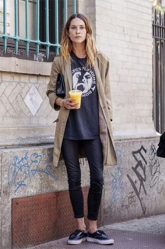Черные джинсы скинни от Topshop