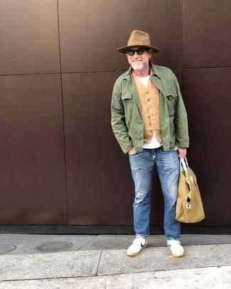 Мужские синие рваные джинсы от Kent & Curwen