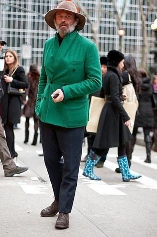 полупальто водолазка классические брюки туфли дерби шляпа large 2245