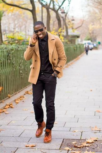 Мужские черные солнцезащитные очки от Versace