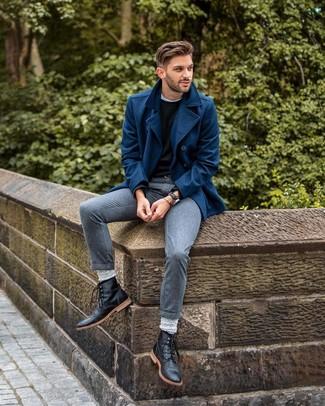 Мужские черные кожаные повседневные ботинки от Cherevichkiotvichki