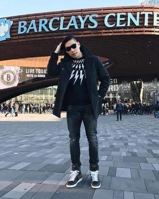 Мужские темно-серые замшевые кеды от Flair